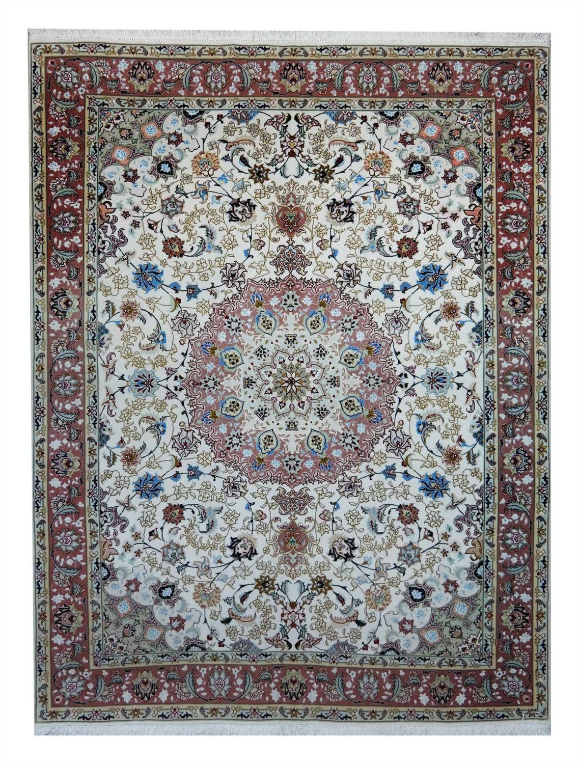 tabriz 60 r , wool and silk , 200 150 cm offer €.2800,00