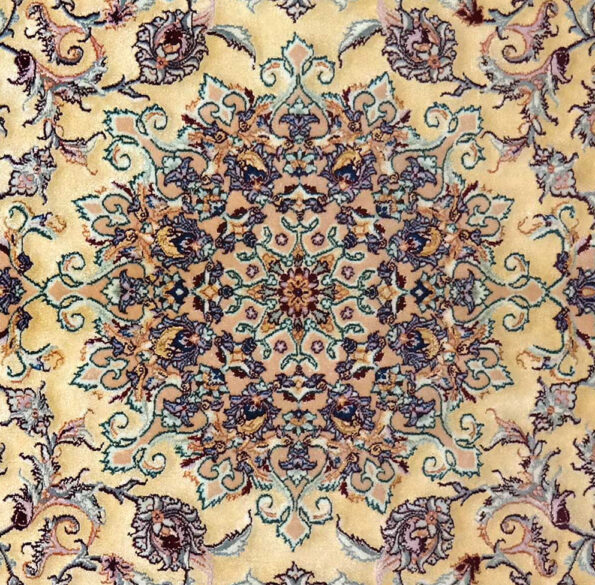 SAM_2029-1esfahan extra fine , weave and warp in silk , 100 x 100cm