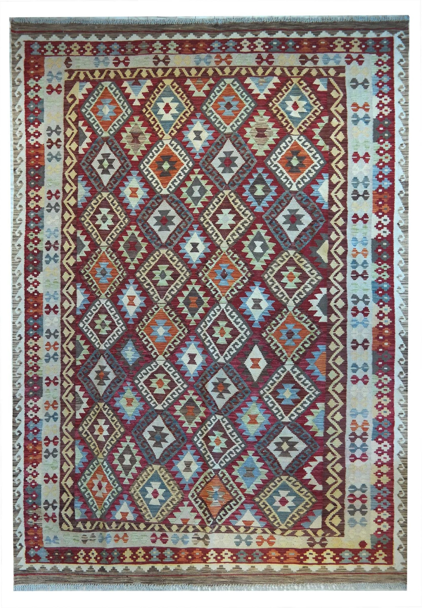 SAM_1532 meimaneh natural colors knotted by hand, 294 x 204, offer €.1350,00