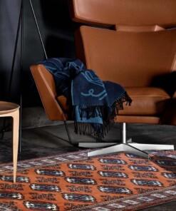 brown Turkmen carpet